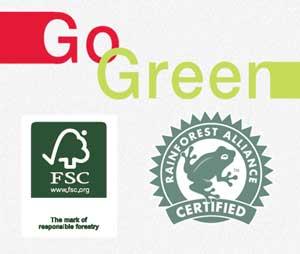 Зеленый печать